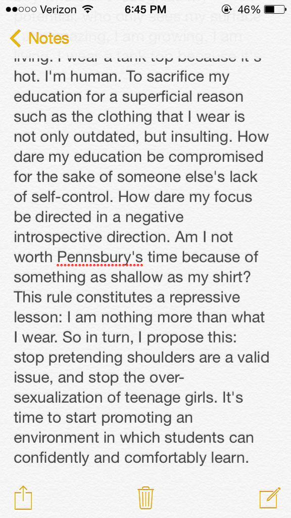 Argumentative essay about school dress code