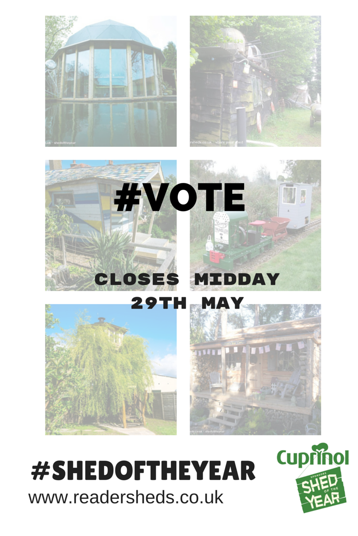 You have until Noon this Friday to #vote for #shedoftheyear http://t.co/foW8tWw3km Please RT http://t.co/pSBOUlDLjN
