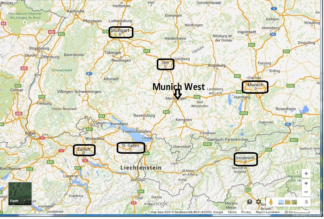 Shannon Airport on Twitter LeamCanto Ryanair Map showing Munich