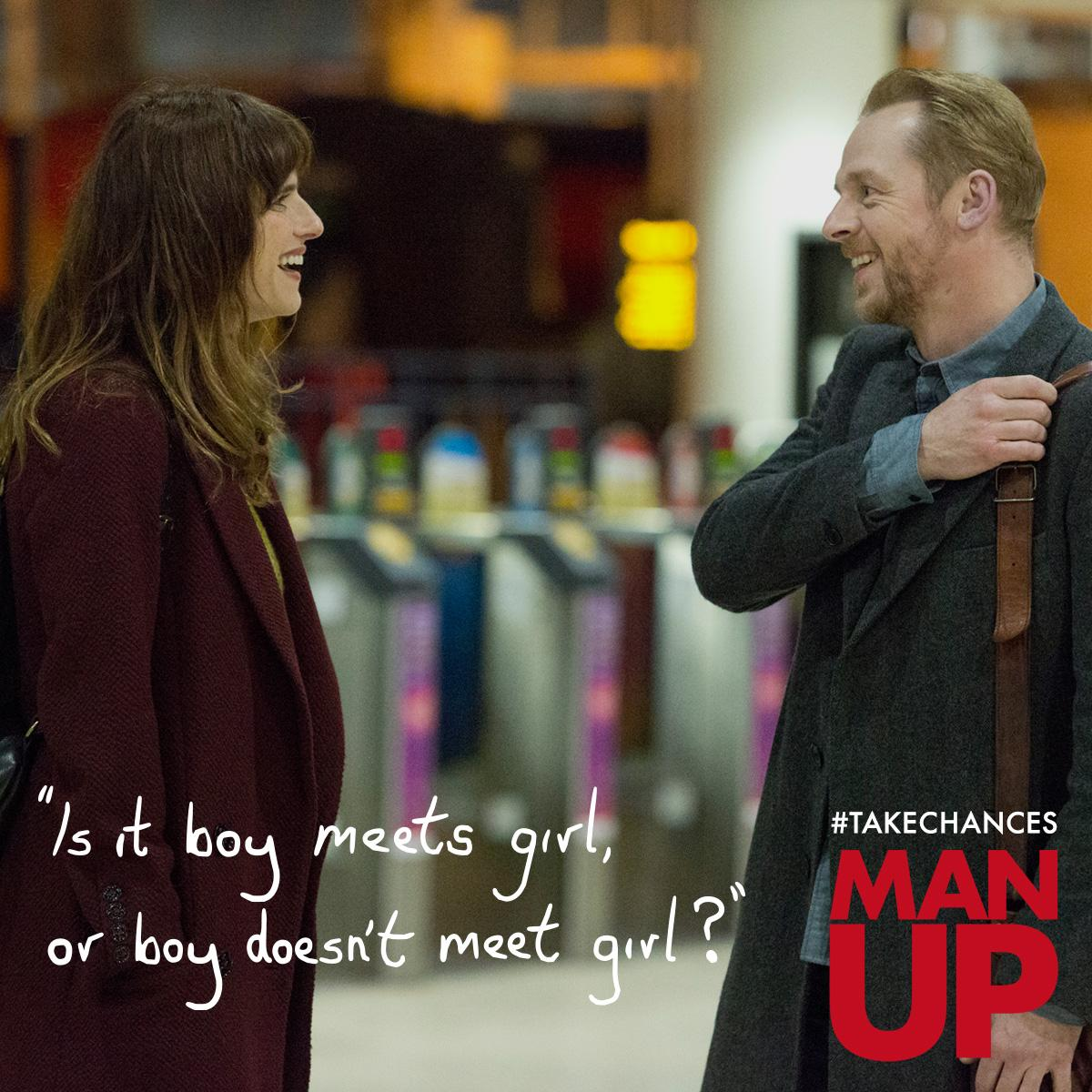 RT @ManUpFilm: Want to see MAN UP tonight in London? Follow @ManUpFilm and RT to win tix for a special preview. #TakeChancesTuesday http://…