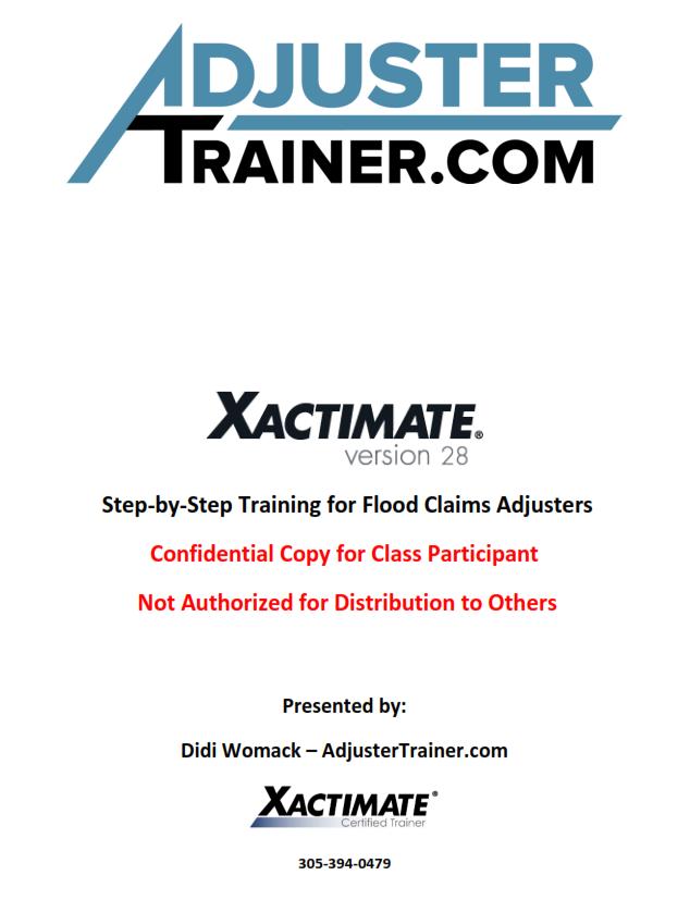 Adjuster trainer adjustertrain twitter for Xactimate 28 tutorial