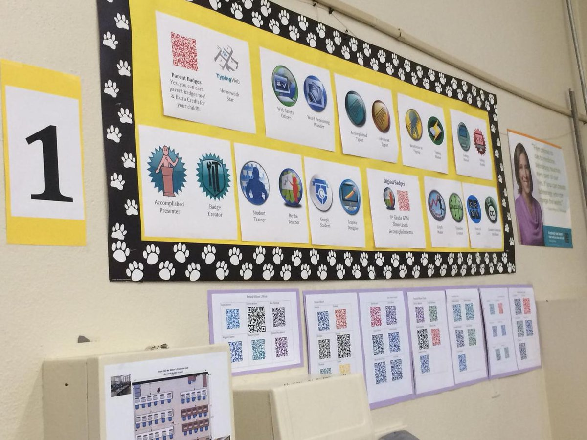 Bulletin Board 1 with QR Codes