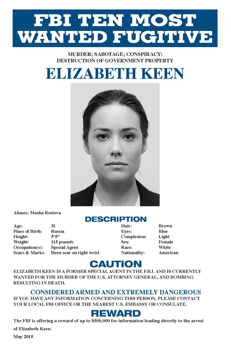"""The Blacklist On Twitter: """"The FBI Has A New Most Wanted"""