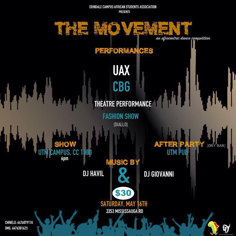 We will be giving out three free tickets tomorrow for the movement so follow @CBG_Music to win http://t.co/3E3wr3G8Vv