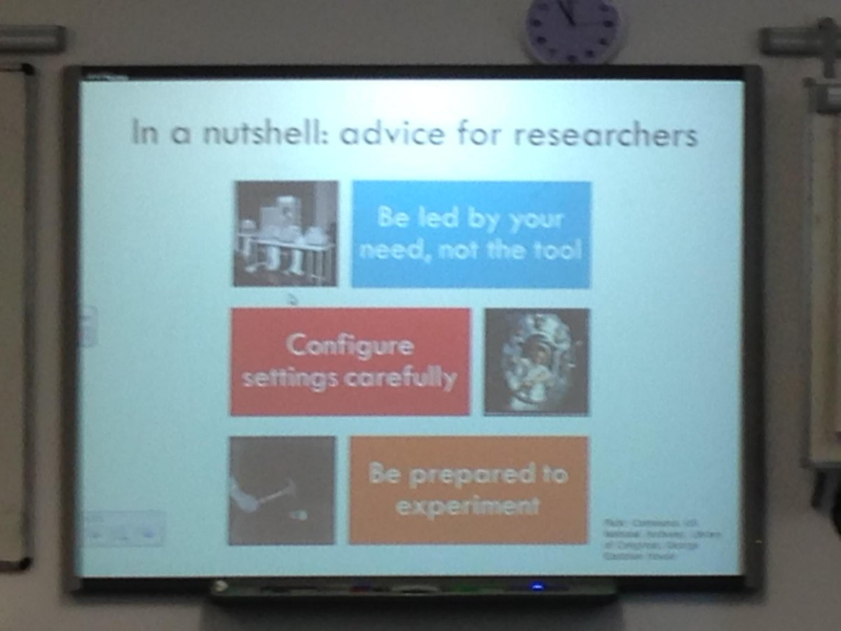 Three key pieces of advice for researchers. #nclxnewtech http://t.co/pK8qTnlAhX