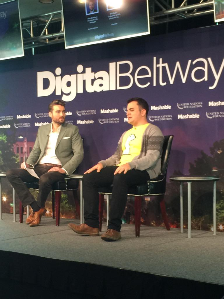 Watching @petecashmore interview @AppMeerkat founder @benrbn at #DigitalBeltway @mashable http://t.co/Q7WaSUIaJX