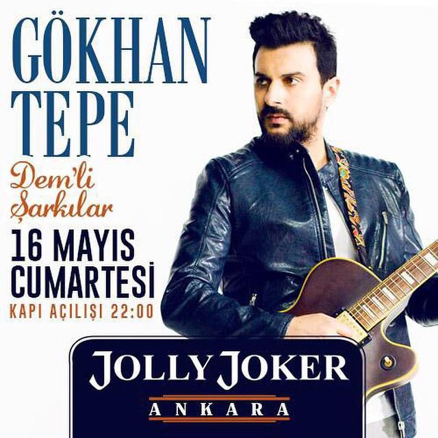 >> @gokhantepemusic yarın @JOLLYJOKERank sahnesinde sizlerle! #SeninleHerYere http://t.co/k7287GQQta
