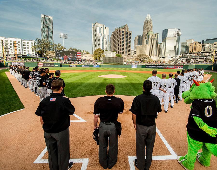 #CLT's @KnightsBaseball BB&T Ballpark named best ballpark in the minors! http://t.co/qTFdeJ22Vn http://t.co/lU8oDSit5X