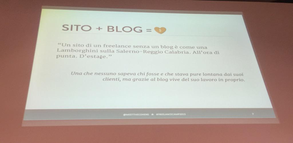Basta! Chiudete Internet @MeetTheCohens vince tutto  #freelancecamp http://t.co/PpuE5KGwJF