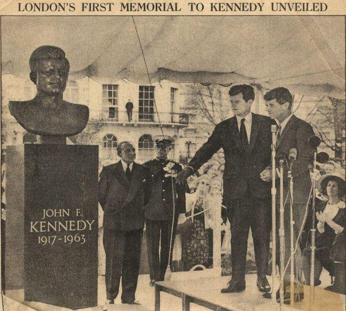 CFDkfHyWAAAFV8I - London's JFK statue - update