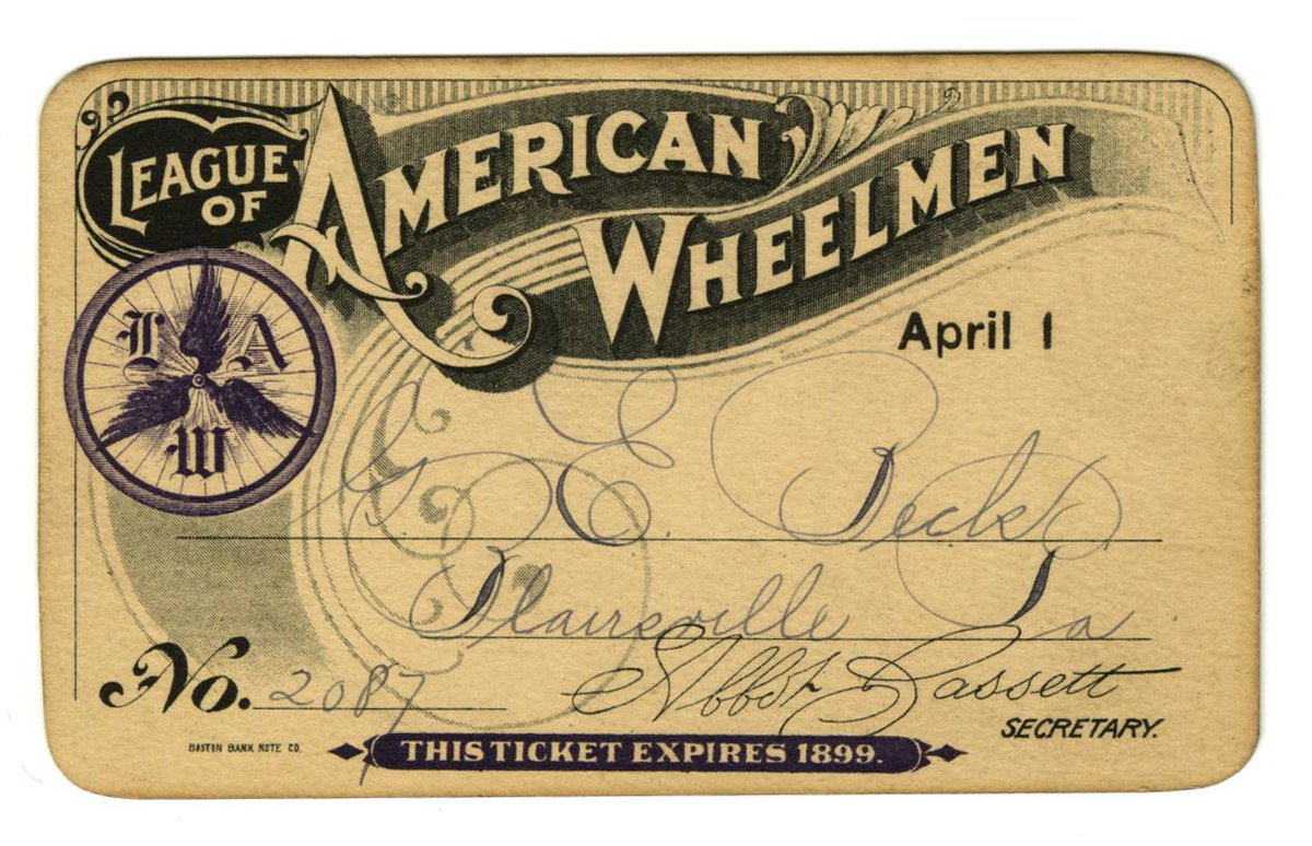 Member card for group founded in 1880 to advocate for cyclists' rights & community: http://t.co/hGzDfC1TOu #BikeMonth http://t.co/aHujJvUFfG