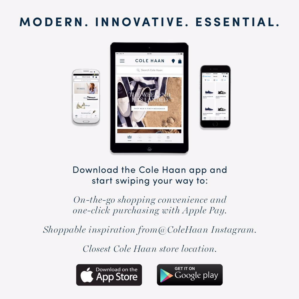 c74dd888dcf ColeHaan proudly launches Apple Pay into their mobile shopping app  #innovators #ApplePaypic.twitter.com/YKDJD0AL3k. Cole Haan