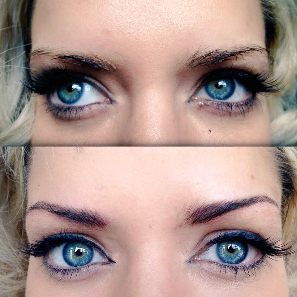Alabama Worley On Twitter Before And After Of My Cosmetic Brow