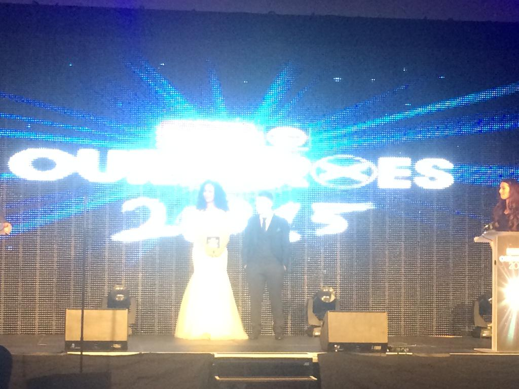 RT @AllanRennie1: Rebecca Ferguson on stage at Glasgow Thistle to present little hero awards. #OH2015 http://t.co/XCqUV7HSt3