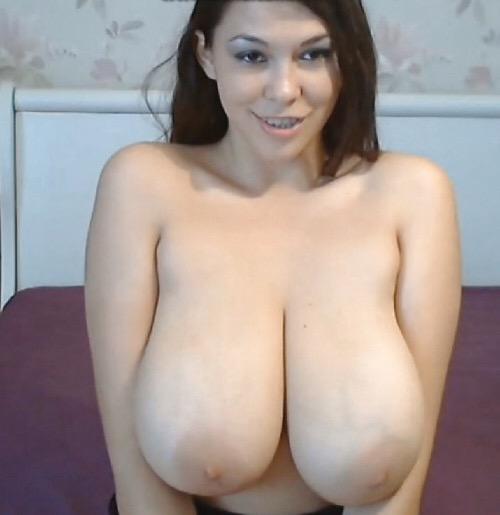 Big tits nude bra