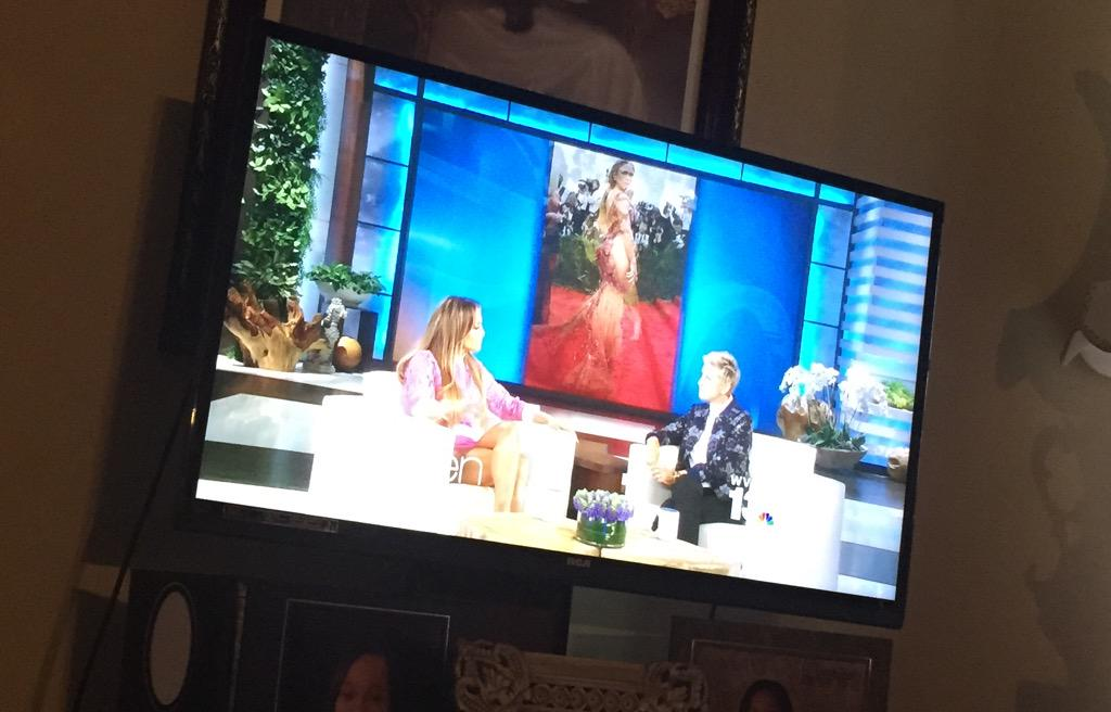 Watching @JLo on @TheEllenShow
