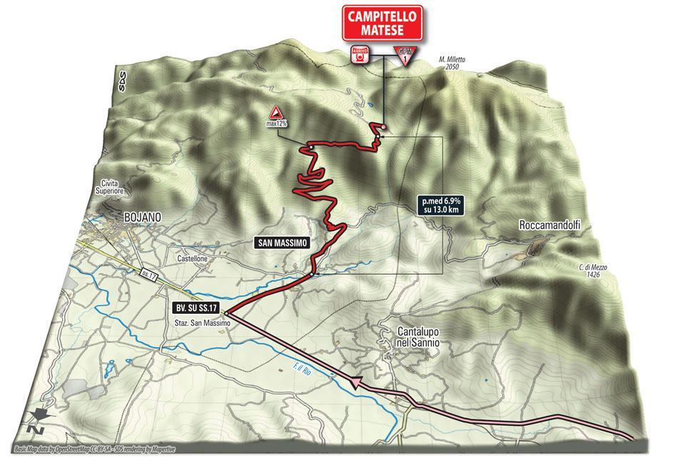GIRO d'Italia 8a tappa oggi: FIuggi-Campitello Matese, info diretta tv streaming Rai Sport 16 maggio (VIDEO)