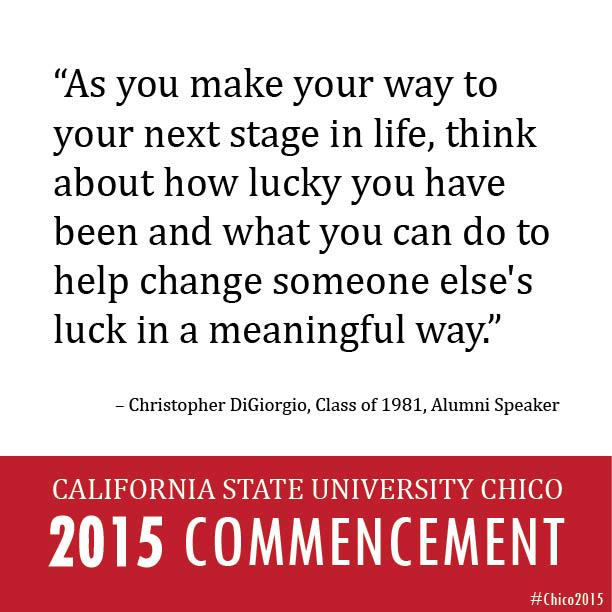 """""""You don't have to wait until you're successful, you can start today.  Even small acts have a big impact."""" #Chico2015 http://t.co/wKNgJy773e"""