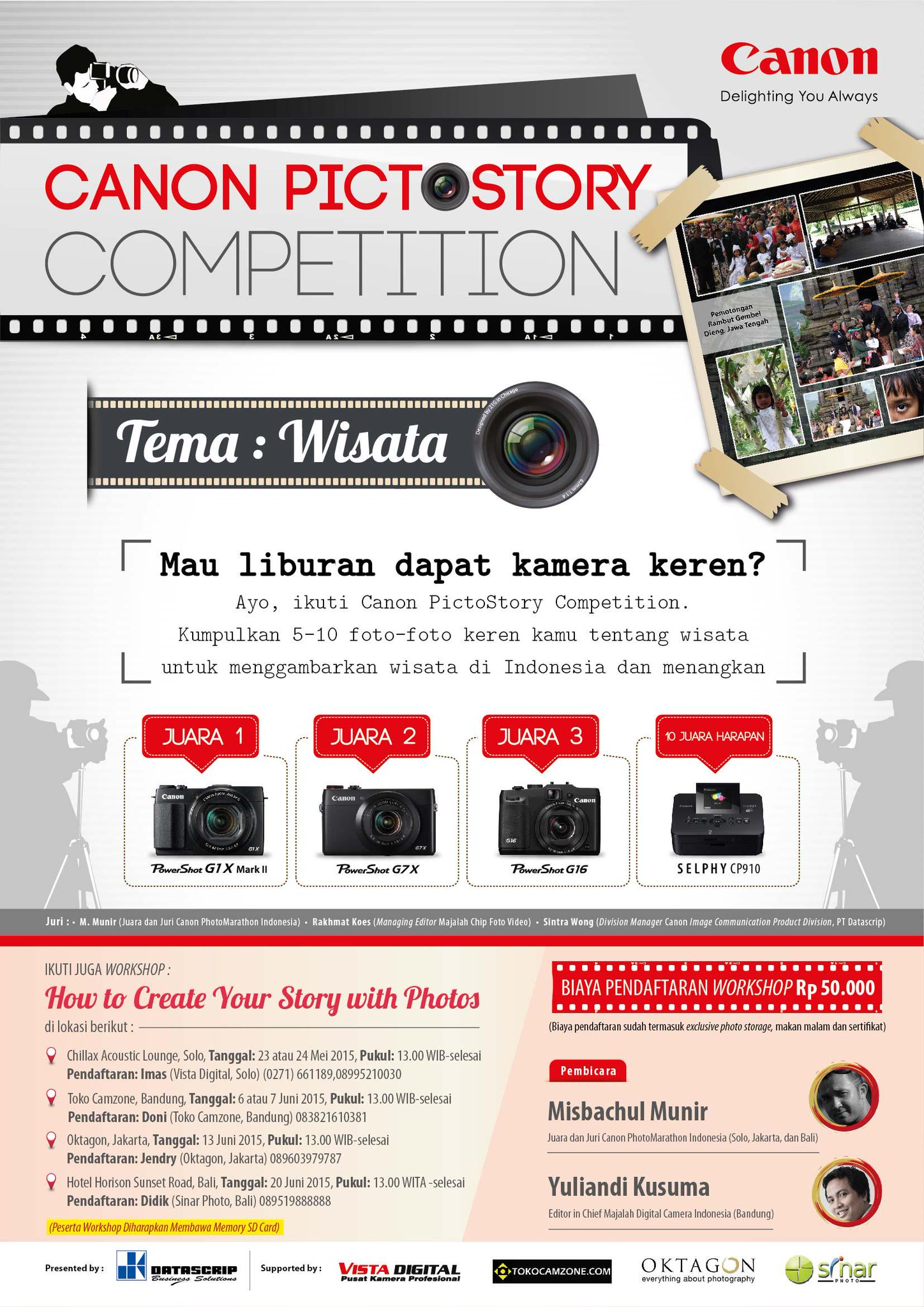 Canon Pictostory Competition and Workshop