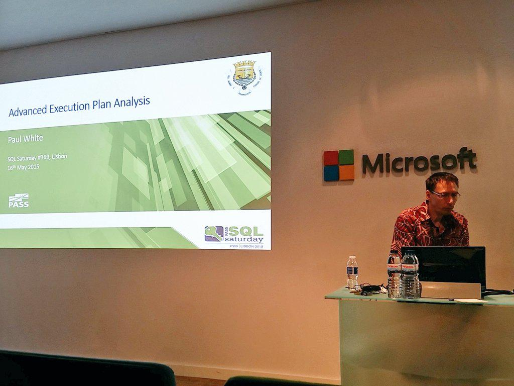 #SQLSatPortugal - Paul White will talk about Advanced Execution Plans Analysis