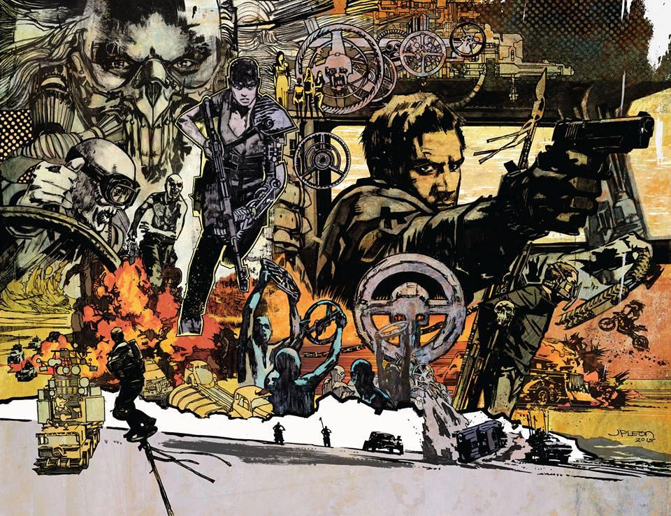 Mad Max Fury Road illustration by JP Leon. Showing us all how it's done. http://t.co/UOPbDXA56b