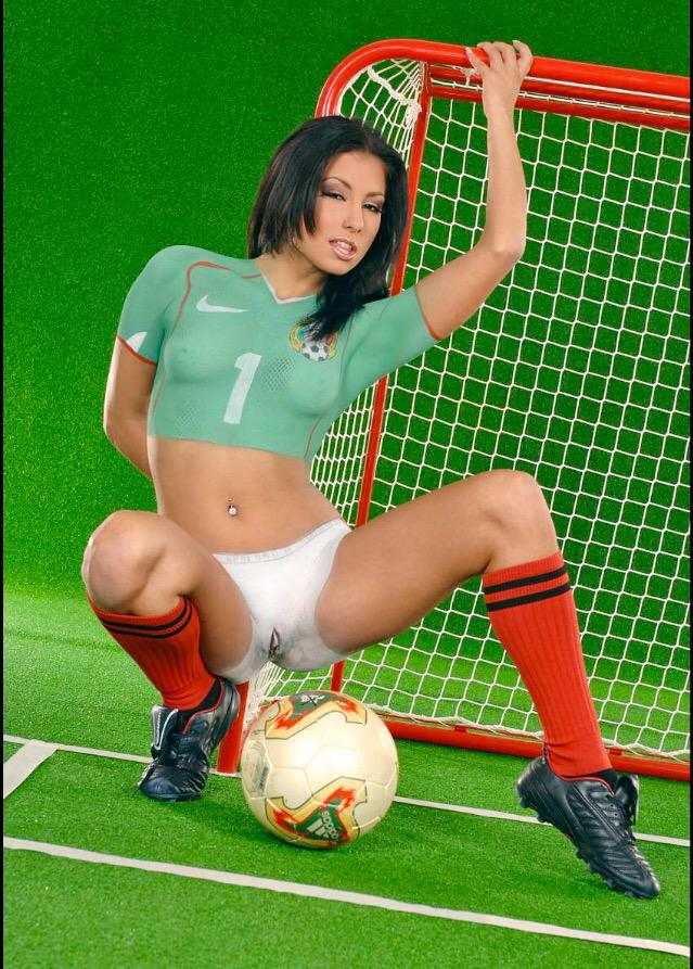 Naked soccer players
