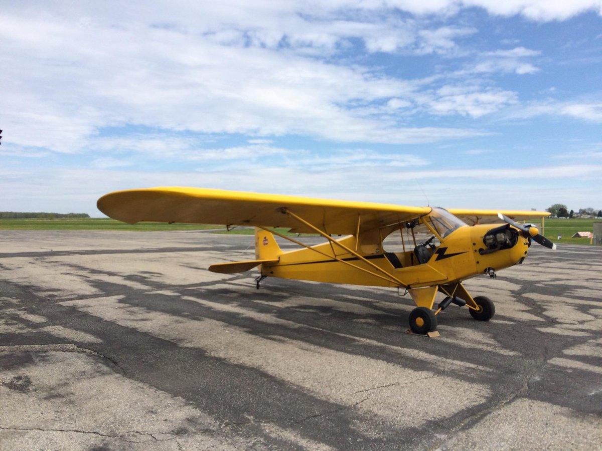 Flight review accomplished. In a #PiperCub, of course! (@ Cub Air in Hartford, WI) https://t.co/hqGM5HGUKZ http://t.co/2JGAHJC3DP