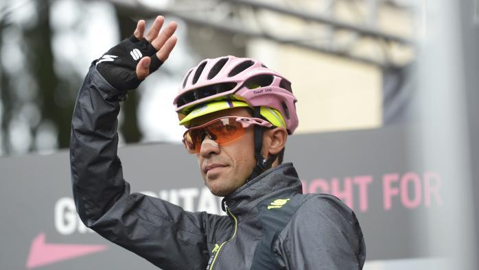 FOTO Maglia Rosa Alberto Contador (Tinkoff-Saxo)