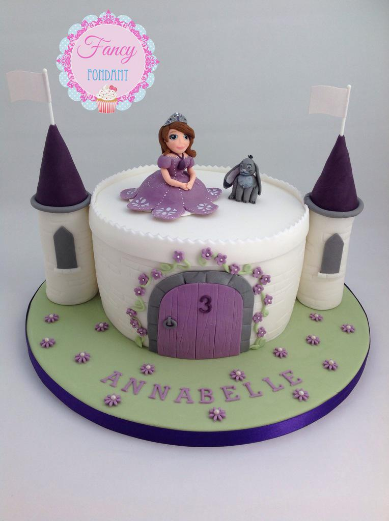 how to make a sofia the first cake