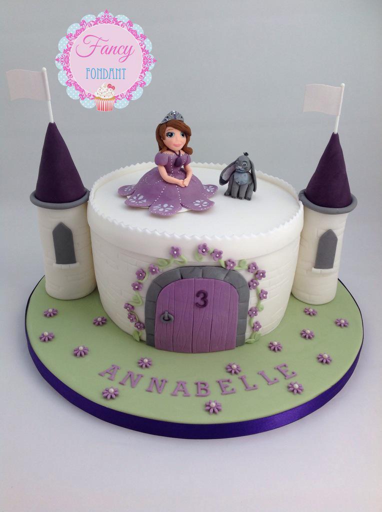 Fancy Fondant On Twitter Sofia The First Castle Cake X Http T Co
