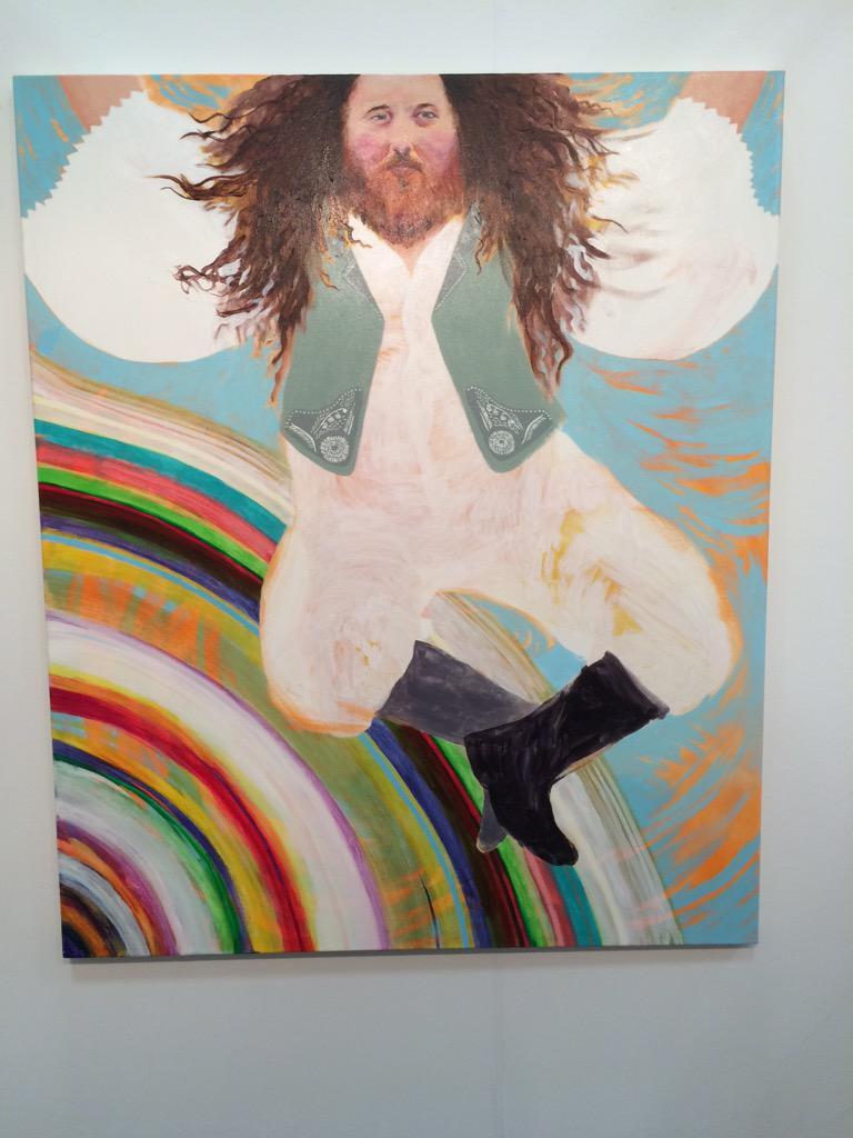 Painting of Richard Stallman by Katie Herzog at @KlowdenMann #NadaNY http://t.co/lBQlIjYMBK
