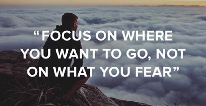 Focus on where you want to go, not on what you fear. #quote #quotes http://t.co/56wFzMXm4D