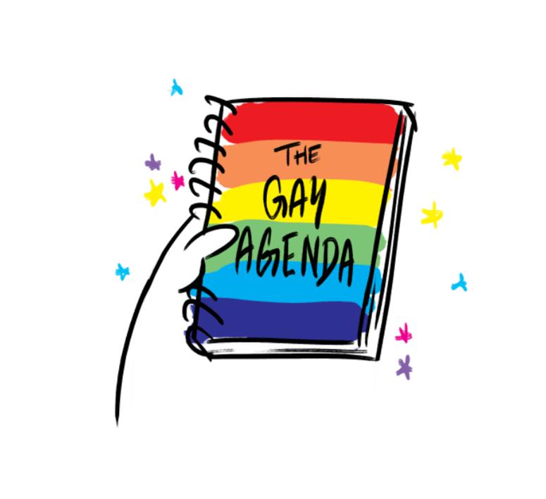 Gay agenda men's tank illuminated brew works