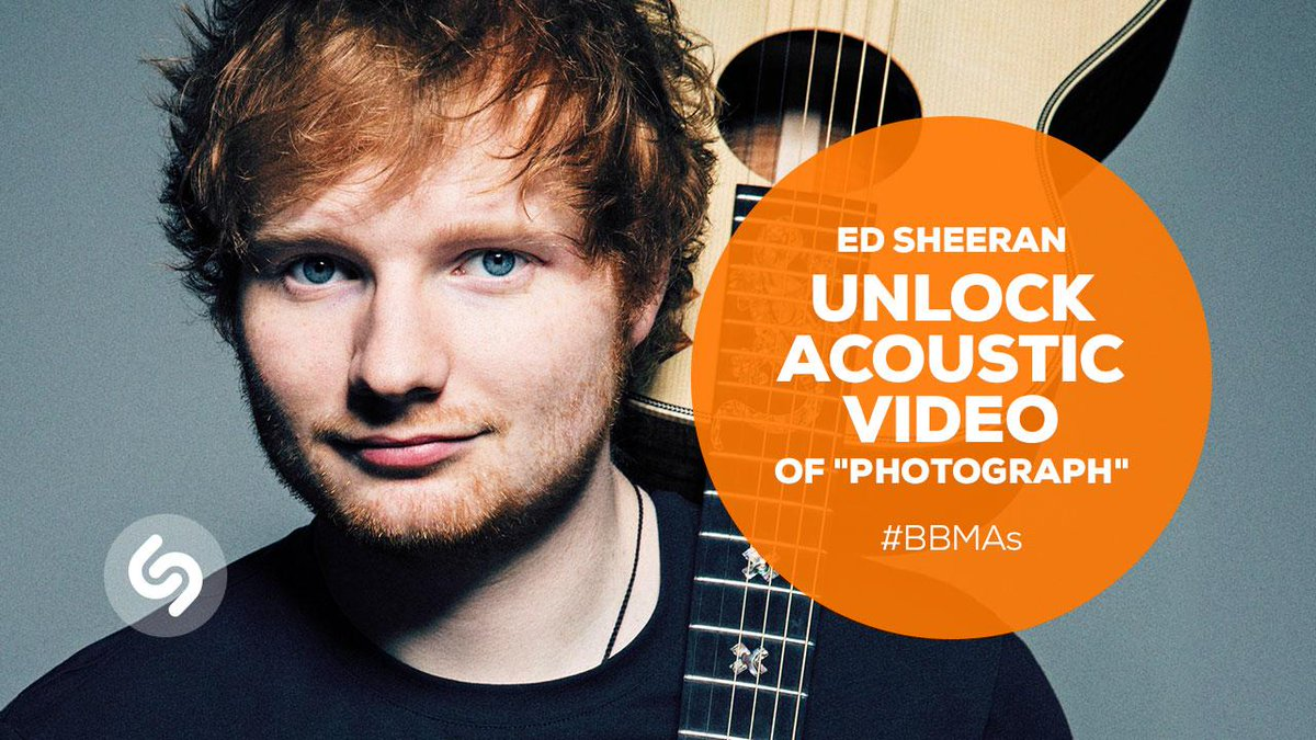 #Shazam the #BBMAs tomorrow to unlock an acoustic performance of #Photograph from @edsheeran: http://t.co/hag1bTODNy
