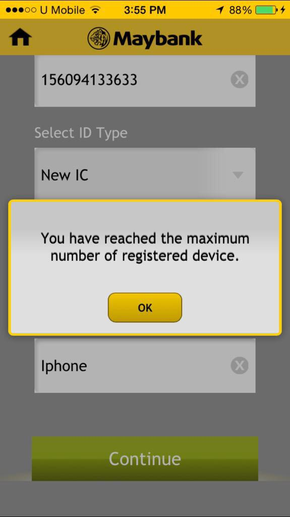 Maybank2u Unsuccessful Account Is Not Authorised Reject Code 0076