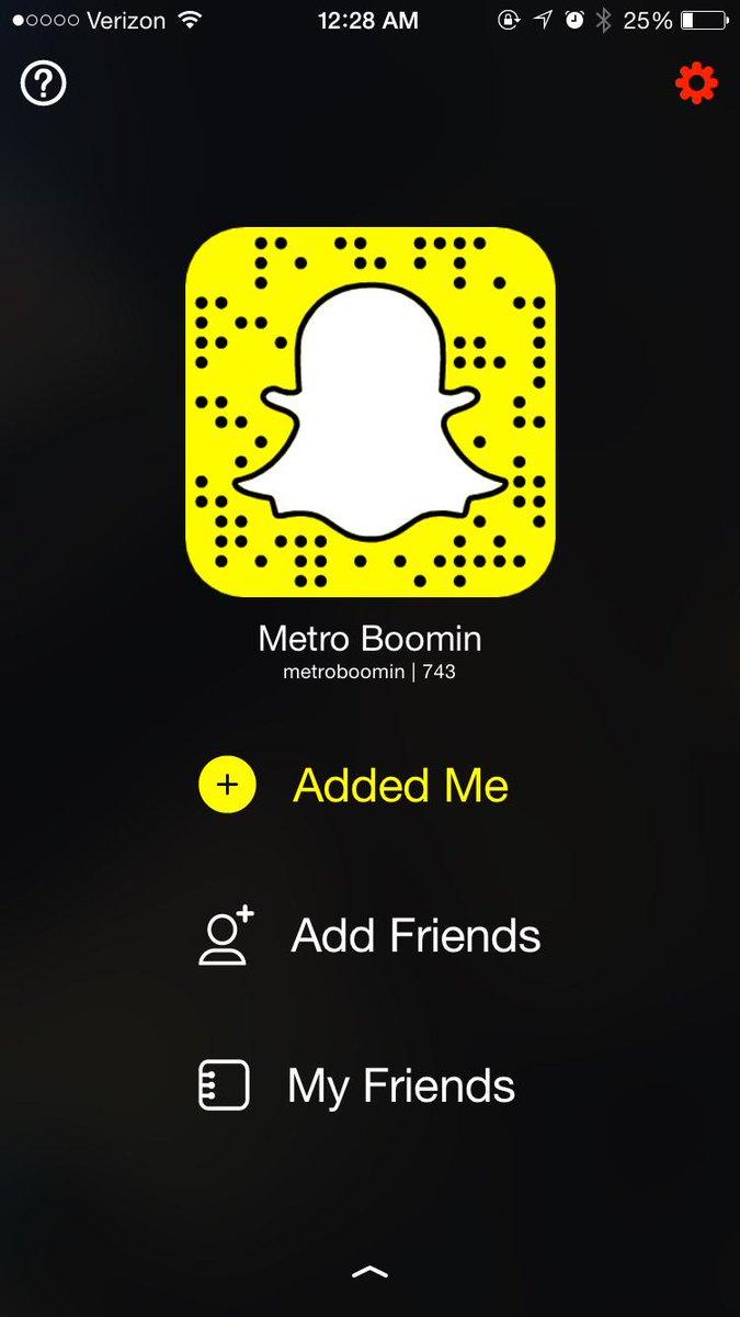 Metro boomin snapchat