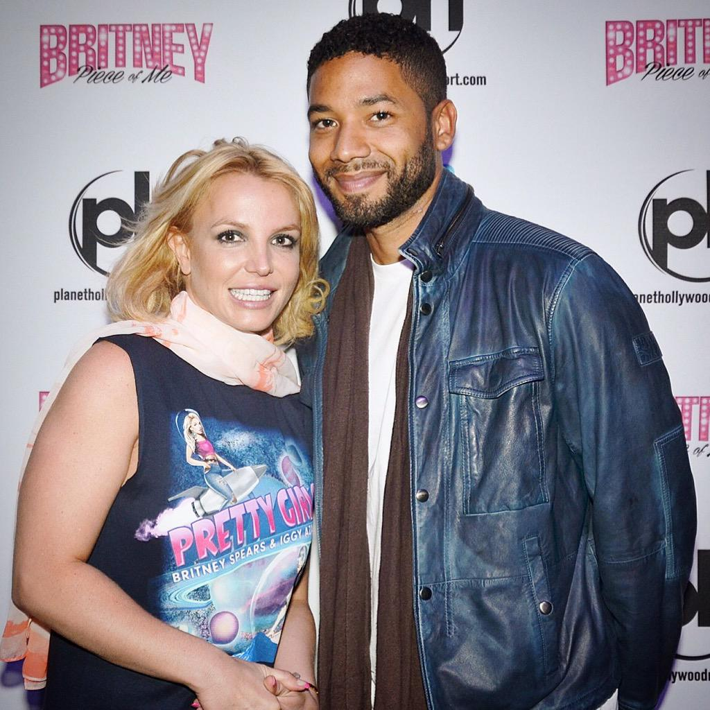 Jussie smollett meets britney spears vegas meet greet lipstick img so basically britneyspears m4hsunfo