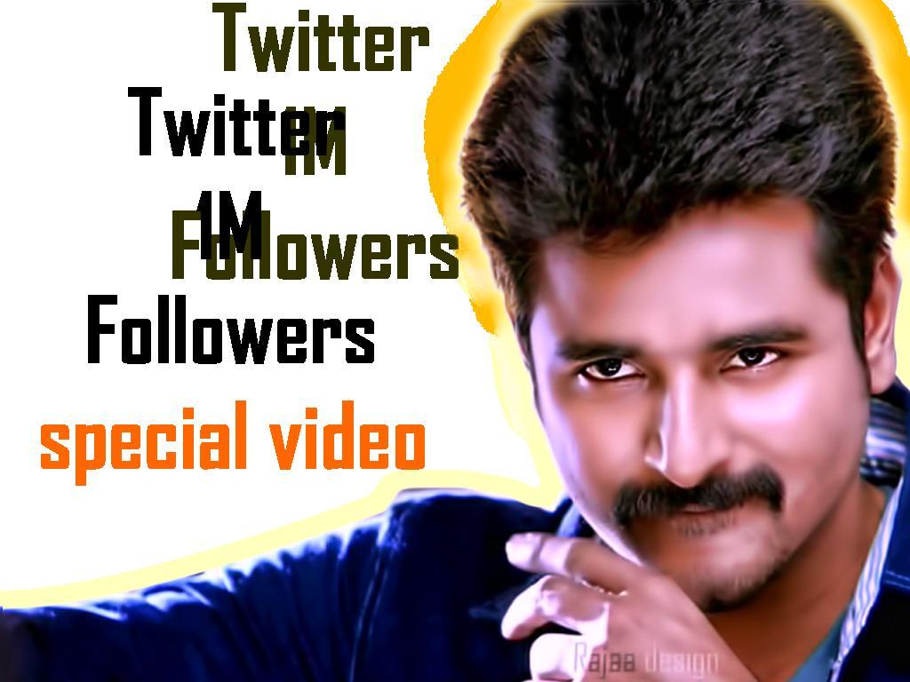 Sivakarthikeyan reaches 1 mn followers on Twitter