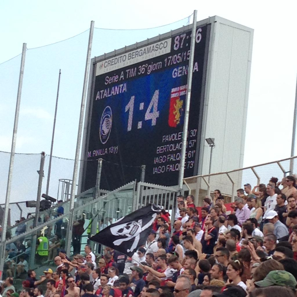 Risultati Serie A 36a giornata: Genoa quinto, il Cagliari retrocede in Serie B