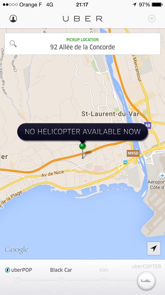 OMG YOU CAN UBER COPTER IN CANNES http://t.co/blluMGaYBe