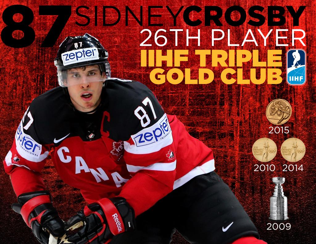 .@penguins Sidney Crosby: '09 Stanley Cup champ; 2-time Olympic Gold Medalist & '15 World Championship Gold Medalist http://t.co/Ujd6RobOdx