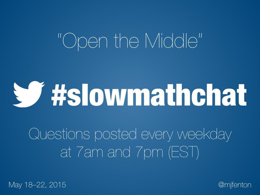 Thumbnail for #slowmathchat • May 18-22, 2015