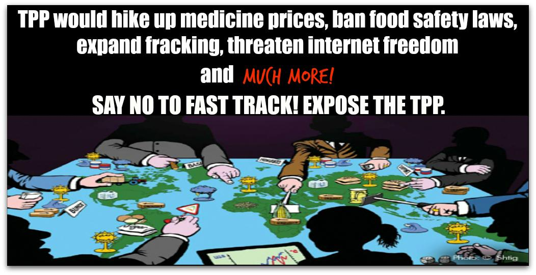 #TPP would impact lives of 800 million people, but the text is totally secret! #NoFastTrack: http://t.co/7GQnGSsdvY http://t.co/3u3vHlQ8z8