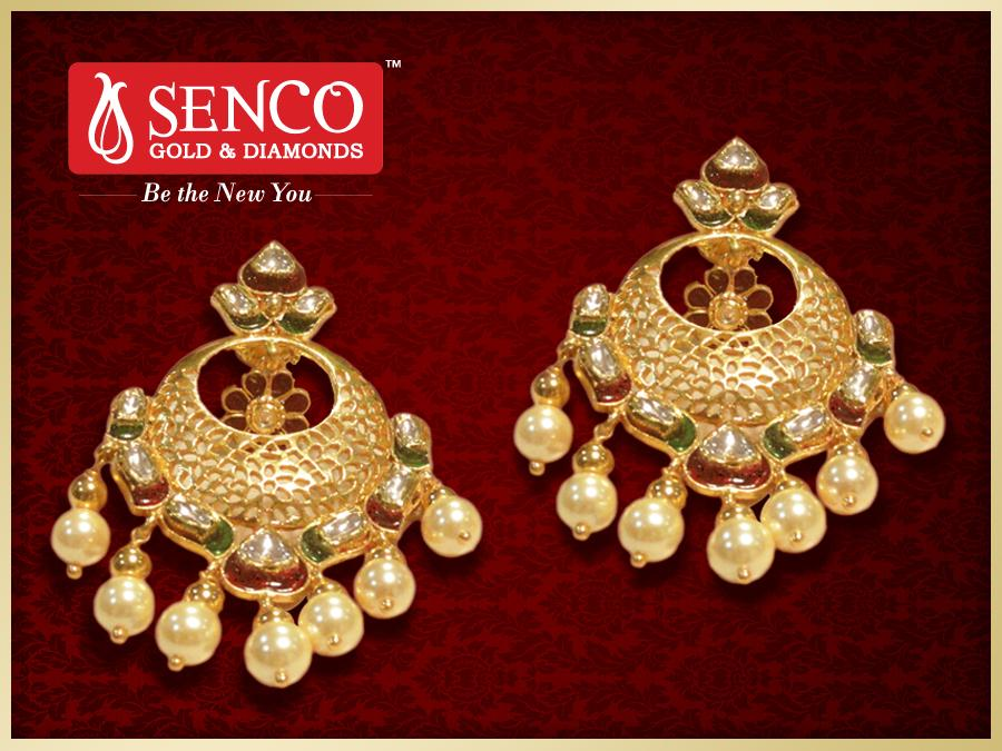 Best Of Gold Earrings Collection with Price | Jewellry\'s Website