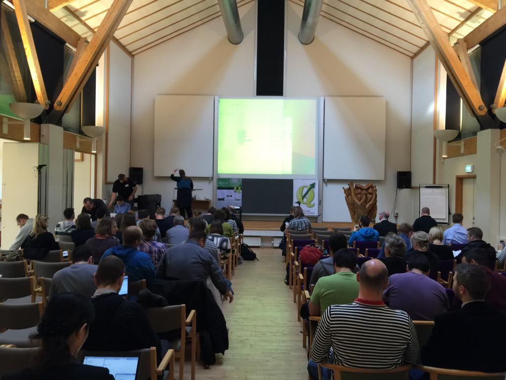 Users, educators & developers gathering for the first International QGIS conference! #QGIS2015 http://t.co/VLcUKQDhyK