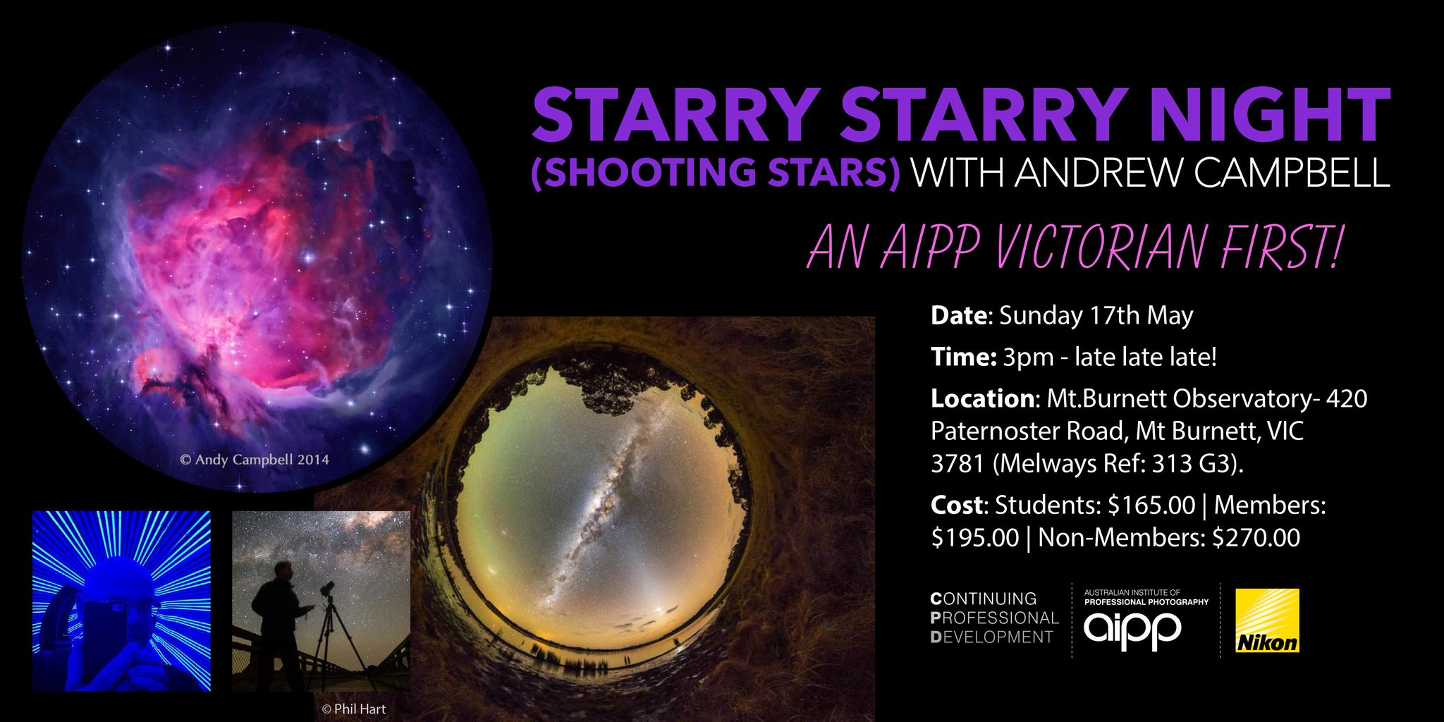 """AIPP VIC: Starry Starry Night (Shooting Stars) with Andrew Campbell"""