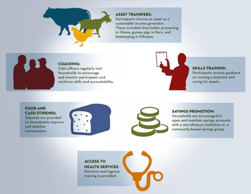 #INFOGRAPHIC: What is the Graduation Approach? @poverty_action @JPAL_Global @BRACworld http://t.co/sw32G9arJ9
