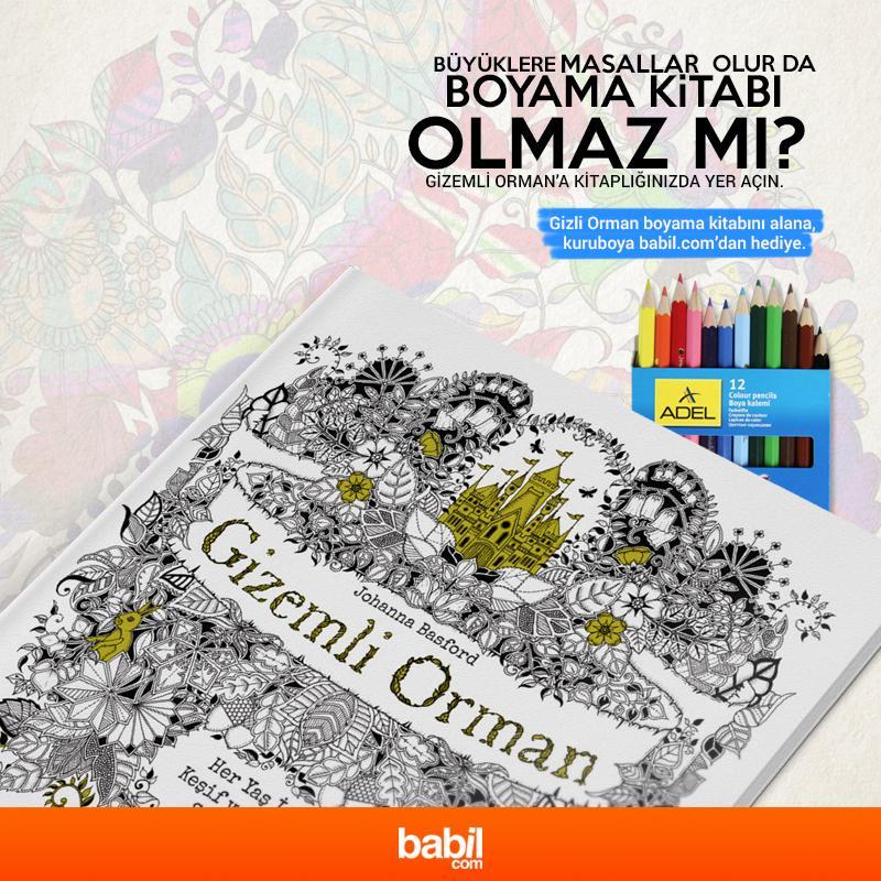 Babil Com On Twitter Buyuklere Ozel Boyama Kitabi Gizemli Orman