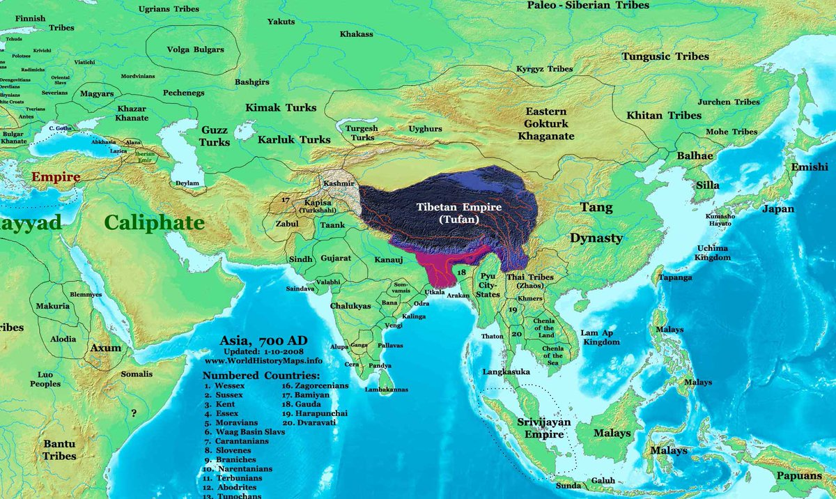 Map Of Asia In 700 Ad.Ganesh On Twitter Rarehistorical A Rare Map Of Asia 700