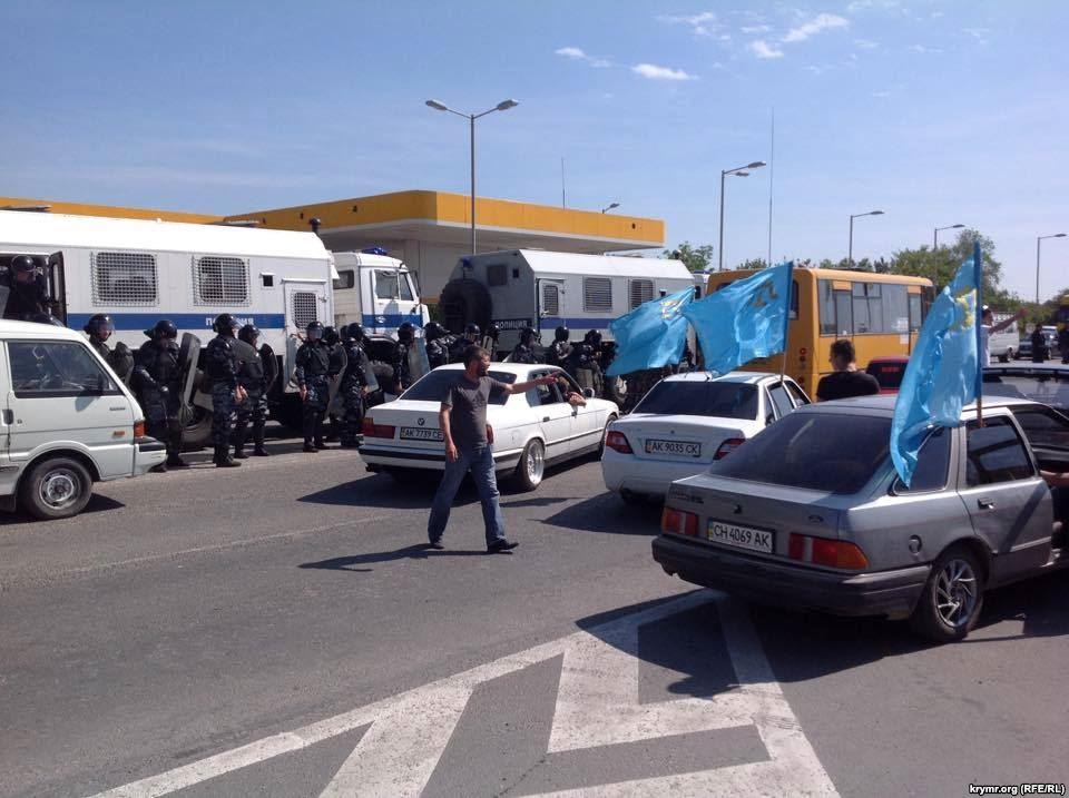 На Майдане прошла акция, приуроченная годовщине депортации крымских татар - Цензор.НЕТ 253